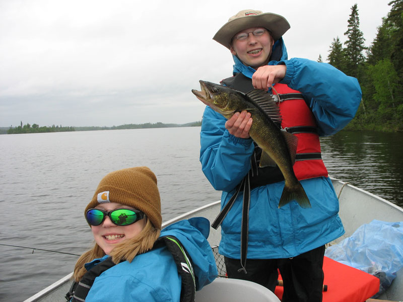 Family Walleye Fishing